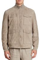 Brunello Cucinelli Suede Safari Jacket