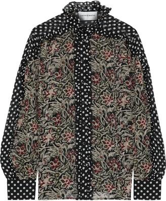 Antik Batik Balyna Ruffle-trimmed Printed Silk-chiffon Shirt