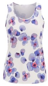 HUGO BOSS Regular Fit Sleeveless Top In Collection Print - Patterned