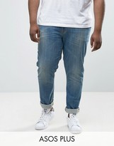 Asos PLUS Skinny Jeans In Mid Wash