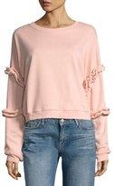 Lumie Ruffled-Sleeve Sweatshirt