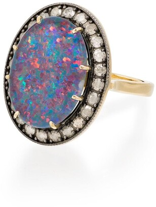 Andrea Fohrman 18kt Yellow Gold Opal And Diamond Ring