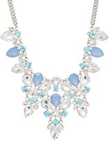 Love Rocks Blue & Clear Crystal Statement Necklace