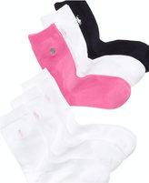 Ralph Lauren Girls' or Little Girls' 3 Pack Crew Length Socks