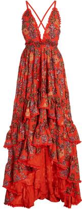Alexis Primrose Sequined Crepe Gown