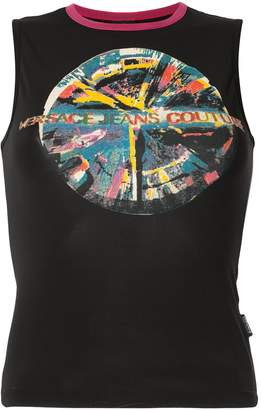 Couture Versace Pre Owned Jeans print tank