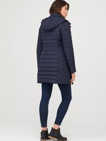 Joules Thirlmere Long Padded Coat - Navy