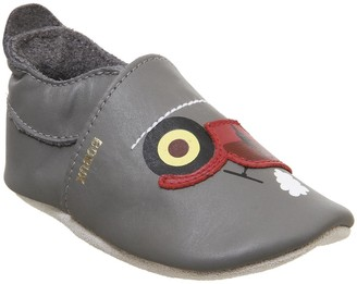 Bobux Soft Sole Crib Shoes Grey Tractor