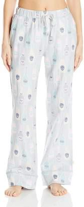 Munki Munki Women's Flannel Pj Pants with Pockets