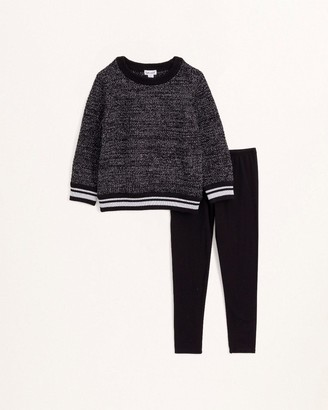 Splendid Little Girl Lurex Sweater Top Set