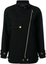 Moschino oversized biker coat - women - Polyamide/Polyester/Acetate/other fibers - 40