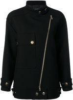 Moschino oversized biker coat - women - Polyamide/Polyester/Acetate/other fibers - 42
