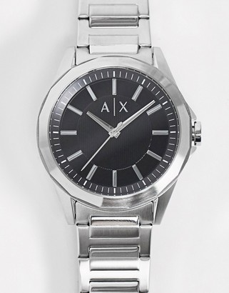Armani Exchange stainless steel silver watch