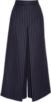 Saint Laurent High-waisted pinstriped culottes