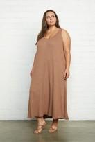White Label Metallic Rib Fiona Dress - Plus Size