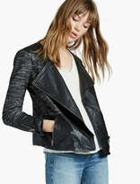 Lucky Brand Mixed Media Leather Moto