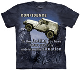 The Mountain Gray & Blue Jeep Outdoor Tee - Unisex