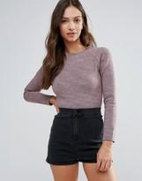 Glamorous Long Sleeve Crop Top