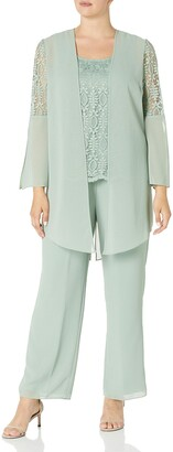 Le Bos Women's 3 pc Lace Pant Set