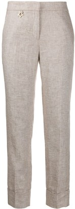 Lorena Antoniazzi Star Detail Straight Trousers