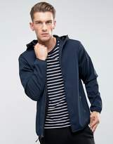 Abercrombie & Fitch Hooded Jacket Lightweight Nylon In Navy