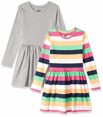 Spotted Zebra Knit Long-sleeve Play Dress Star/Pink 2T
