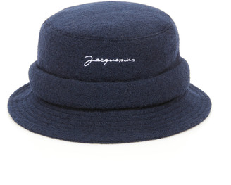 Jacquemus Le Bob Embroidered Wool Bucket Hat