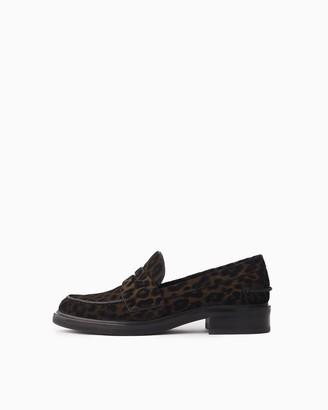 Rag & Bone Slayton loafer - cheetah lasered suede