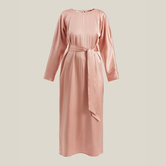 La Collection Pink Florence Tie-Waist Midi Dress Size M