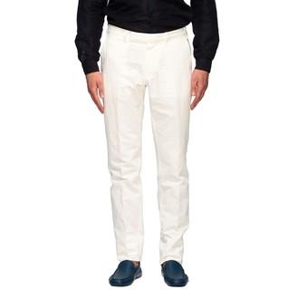 Ermenegildo Zegna Chino Trousers In Linen And Cotton
