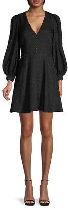 Joie Breena Embellished Puff-Sleeve Dress