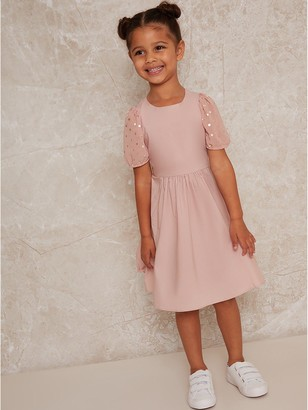 Chi Chi London Girls Medulia Dress - Pink