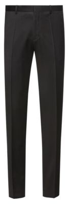 HUGO Extra-slim-fit trousers in pigment-dyed virgin wool