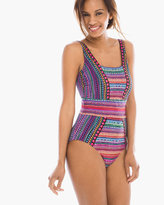 Chico's Nefertiti Square Neck One-Piece Swimsuit