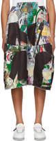 Comme des Garcons Black City Patchwork Skirt