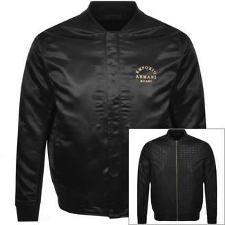 Giorgio Armani Emporio Reversible Bomber Jacket Black