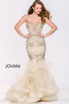Jovani Strapless Mermaid Tiered Skirt 36984