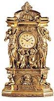Toscano Design Chateau Chambord Clock in Antique Faux Gold
