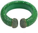 Latelita London - Stingray Cuff Gold Emerald Green