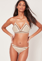 Missguided ABAD x Crochet Bikini Set Nude