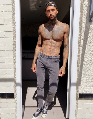 ONLY & SONS slim fit jeans in washed gray