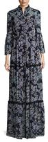 Temperley London Captain Print Bell Sleeve Maxi Dress