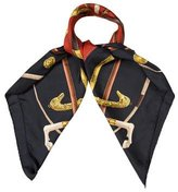Hermes Cannes & Pommeaux Silk Scarf