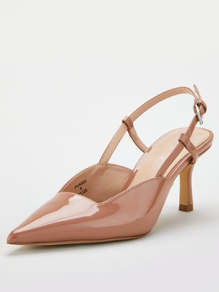 Very Coco Slingback Point Court Shoe - Nude