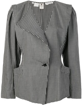 Emanuel Ungaro Pre Owned Single Breasted Check Blazer