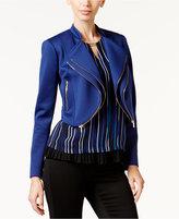 Thalia Sodi Double-Zip Lapel Moto Jacket, Only at Macy's