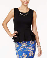 Thalia Sodi Peplum Necklace Top, Created for Macy's