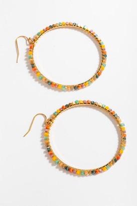 francesca's Arabella Beaded Border Drop Earrings - Multi