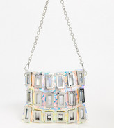 Asos Design DESIGN holographic link cross body bag