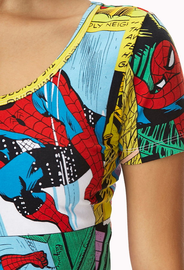 Forever 21 spiderman comic crop top